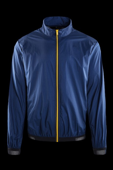 Unlined bomber with contrasting colour zip
