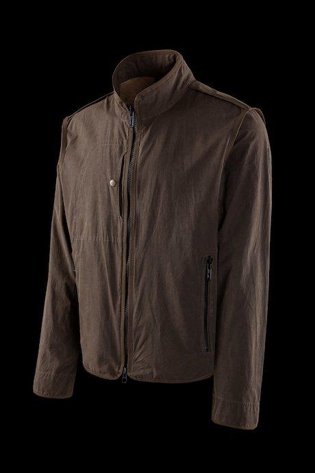 Unlined jacket in softshell side stripes