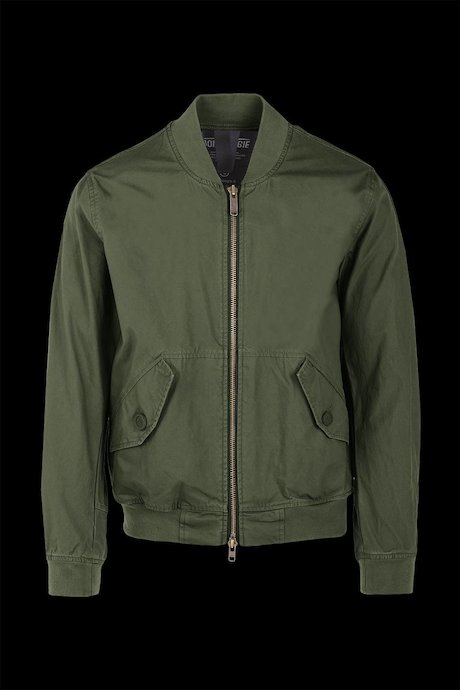 Unlined cotton bomber
