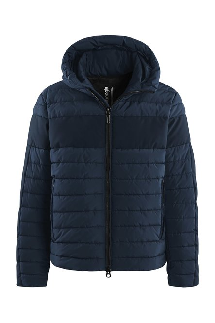 Down jacket with recycled material
