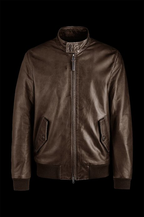 Leather bomber Bart