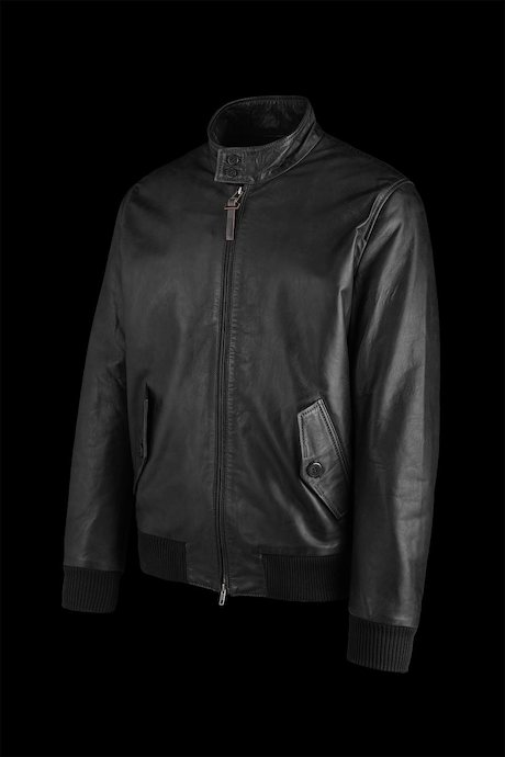 Leather bomber Bart