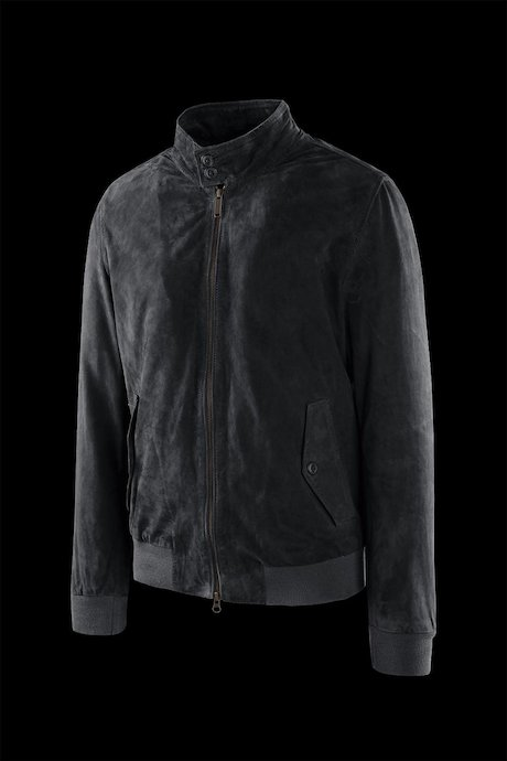 Dafi suede leather jacket