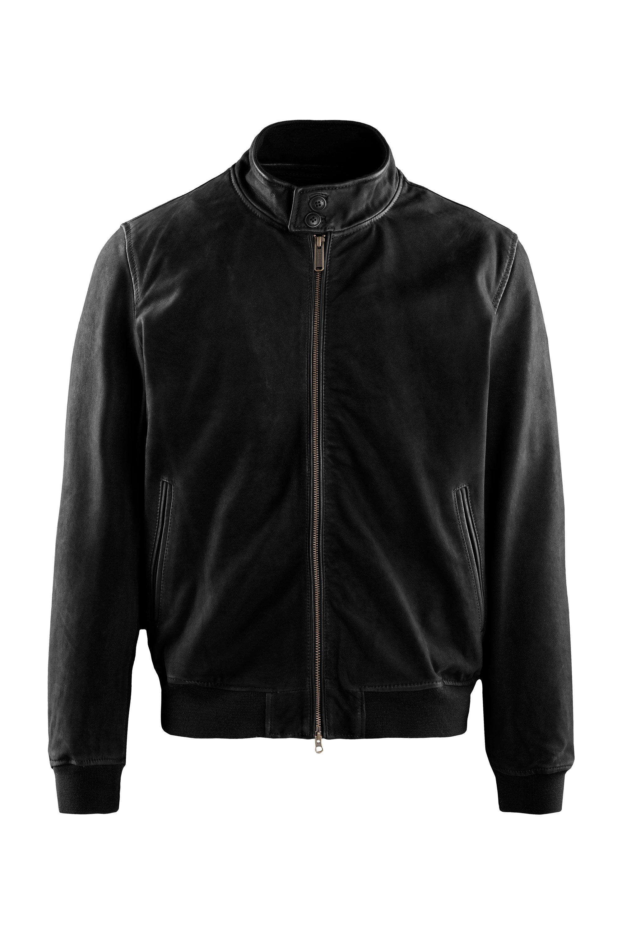 Friz nabuk leather bomber jacket
