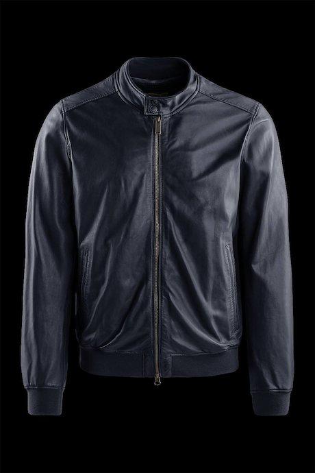 Friz leather jacket garment washed