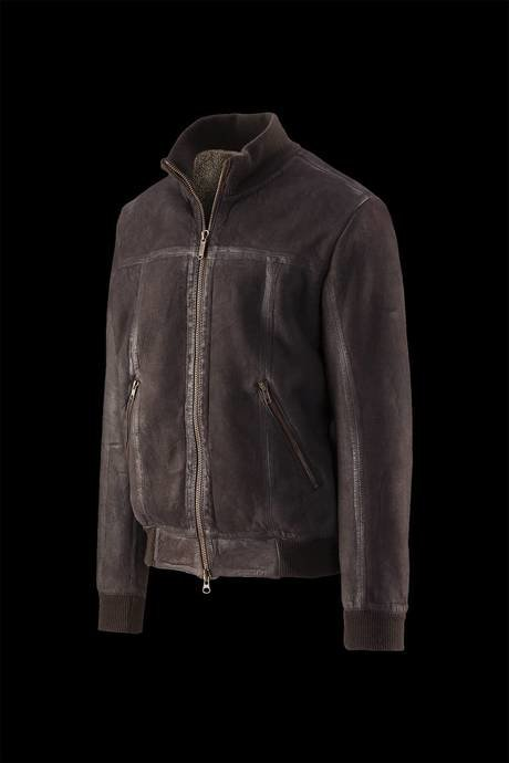 Glen  Nabuk leather bomber  jacket
