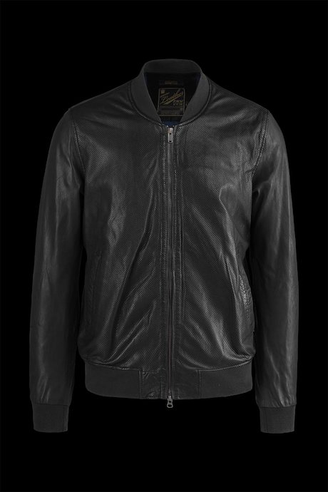 Leather bomber jacket Mash