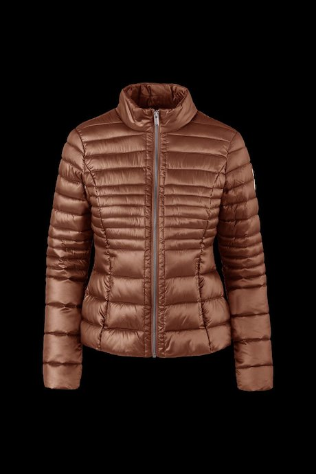 Shiny down jacket down-like padding