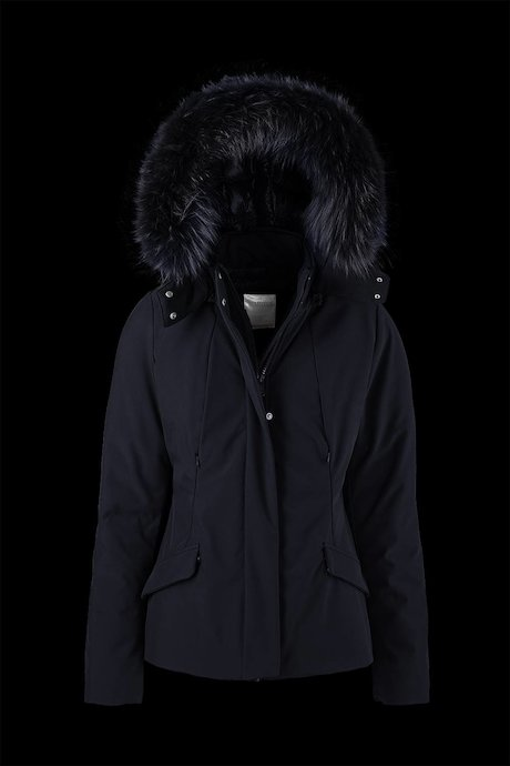 Short Softshell Parka Detachable Hood