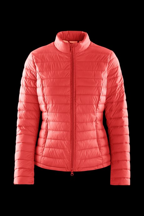 Nylon poplin down jacket with side tears