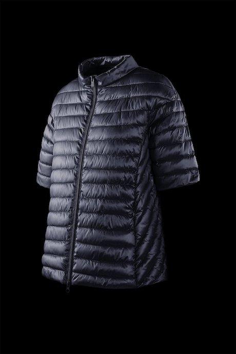 Nylon sateen down jacket short sleeve