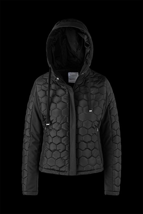 Bimaterial Jacke mit Honeycomb Quilting