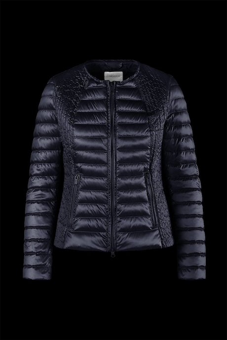 Round neck down jacket