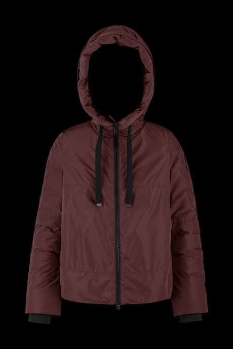 Short jacket with sherpa lining
