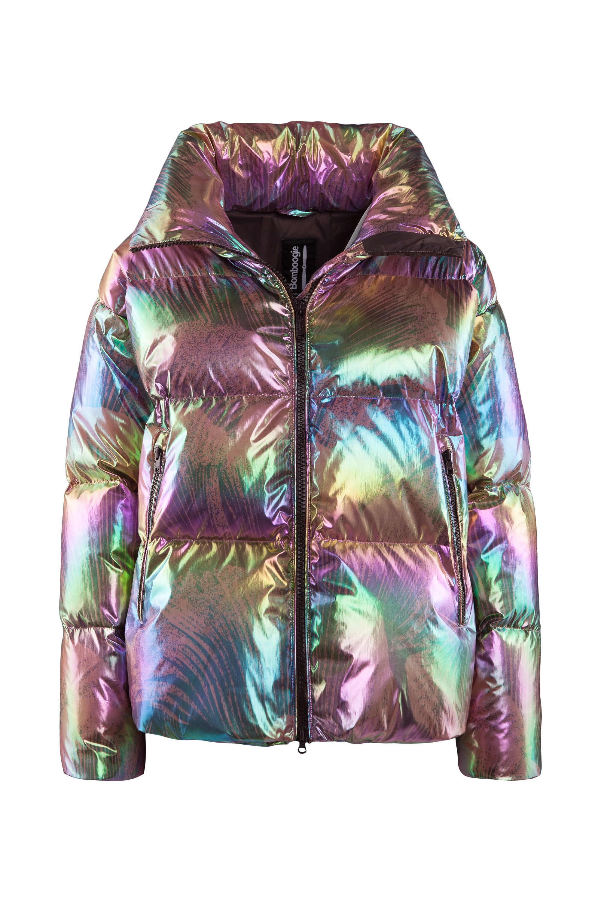 Down jacket nylon effect crystal effect
