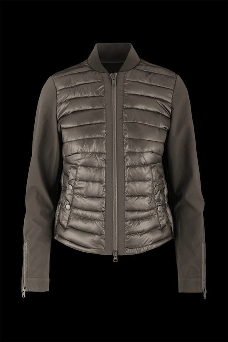 Bi-material jacket with zip