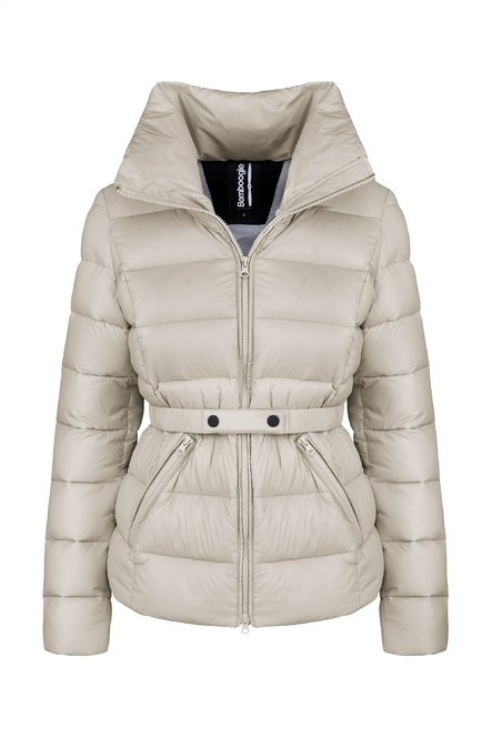Down jacket in recycled nylon
