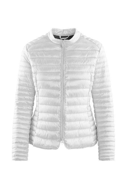 Jacket in nylon satin synthetic filling
