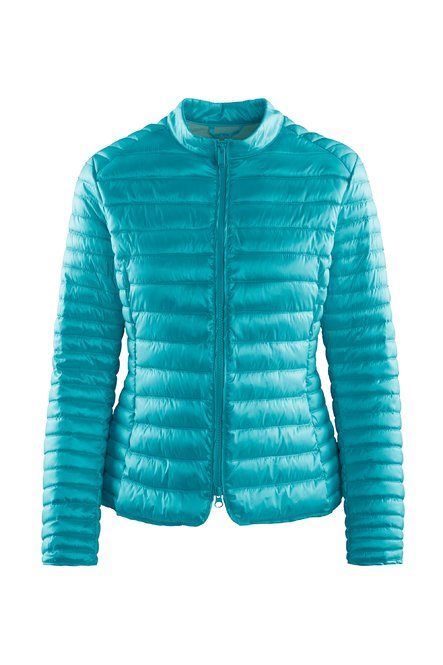 Nylon sateen down jacket