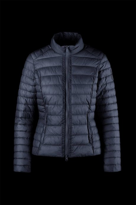 Matt down jacket with lateral zip