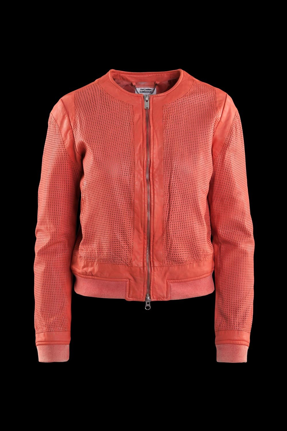 Hasy perforated leather bomber jacket