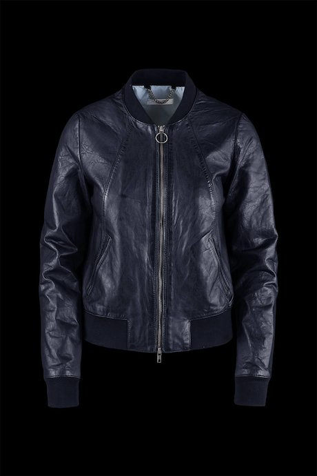 Leather bomber jacket Math