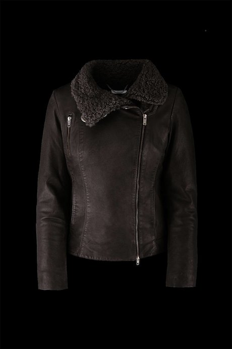 Pack leather jacket