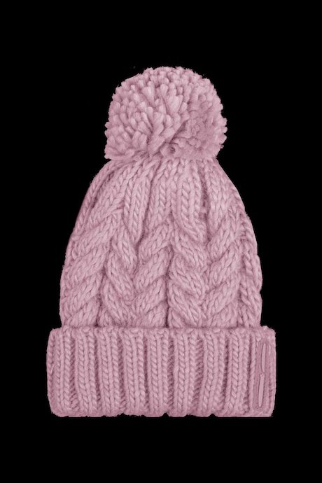 Tricot beanie with turn-up