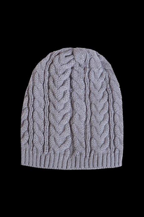 Bonnet tricot tressé