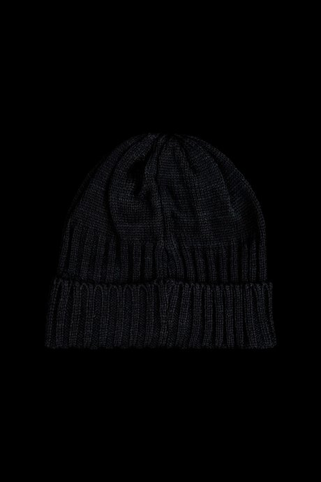 Beanie with ribbed turn-up