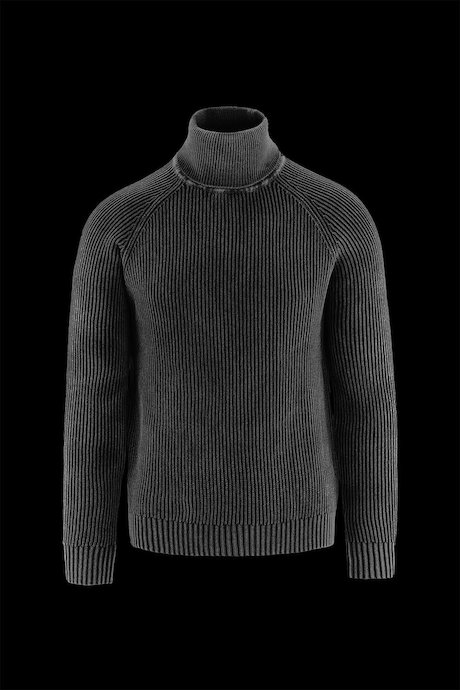 Ribbed Knit Sweater Cold Dyed Cotton