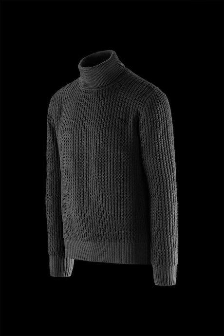 Jersey de cuello alto algodón