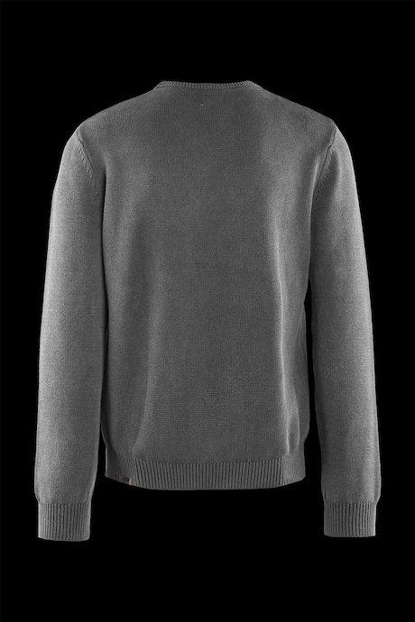 Pull coton col rond motif losanges
