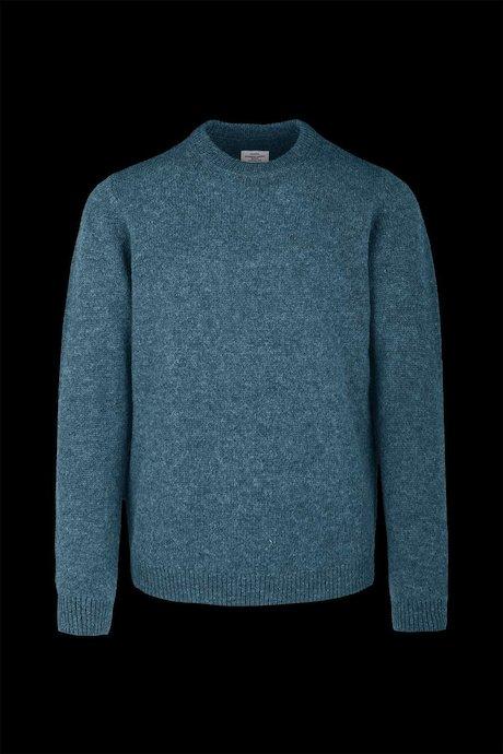 Wool round neck sweater
