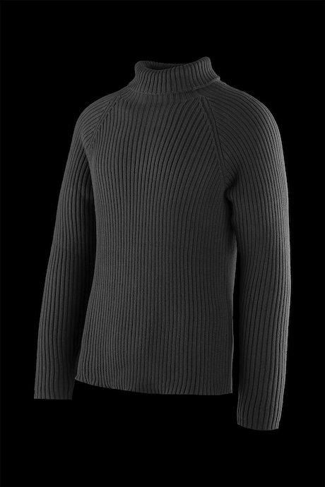 Cotton turtleneck sweater raglan sleeve