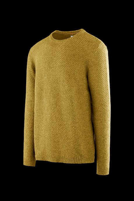 Round neck sweater wool blend