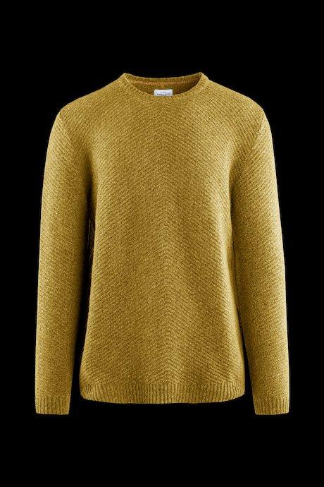 Jersey cuello redondo de lana mezclada