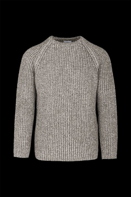 Round neck sweater wool blend mélange