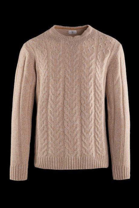 Jersey con trezas en mezcla de lana