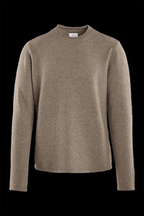 Jersey de cuello redondo en mezcla de lana