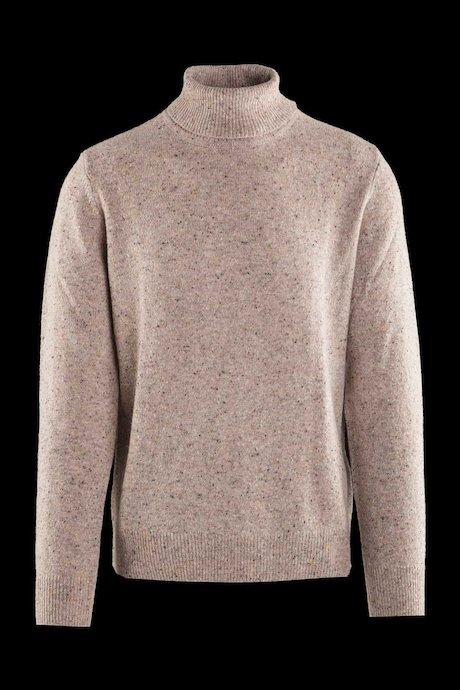Jersey de cuello alto en mezcla de lana