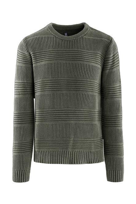 Pullover Tricot in Cotone Fade Effect