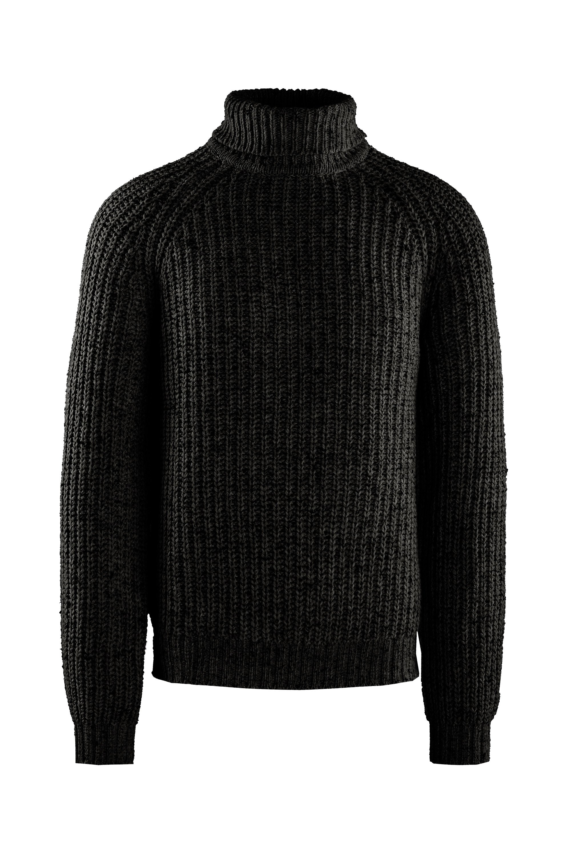 Ribbed turtleneck mélange