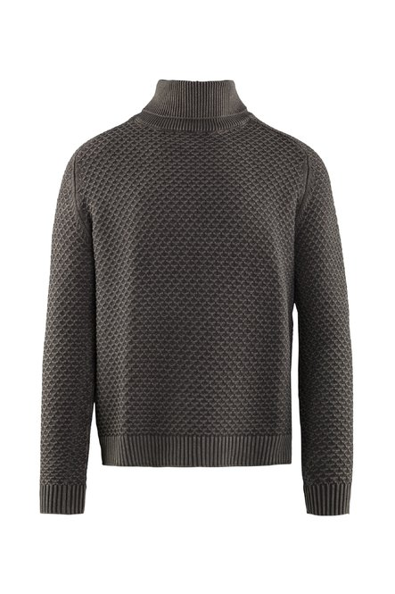Turtleneck fade effect honeycomb stitch