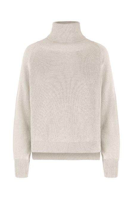 Turtleneck sweater in wool-cotton blend