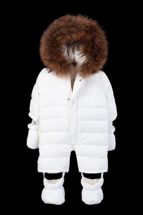Baby snowsuit racoon fur inserts