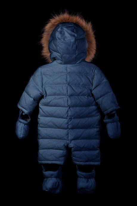 Baby snowsuit racoon fur inserts