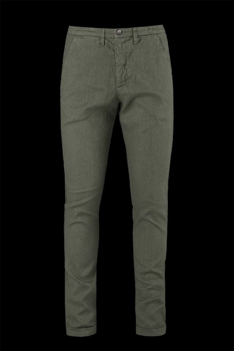 Cotton-linen chino trousers
