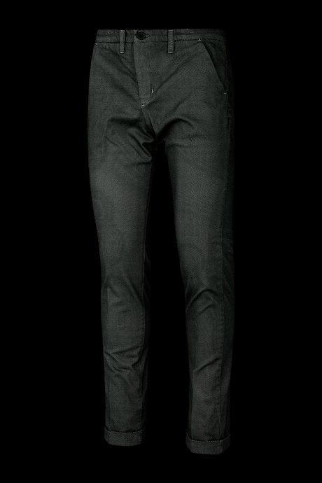 Chino trousers microprint