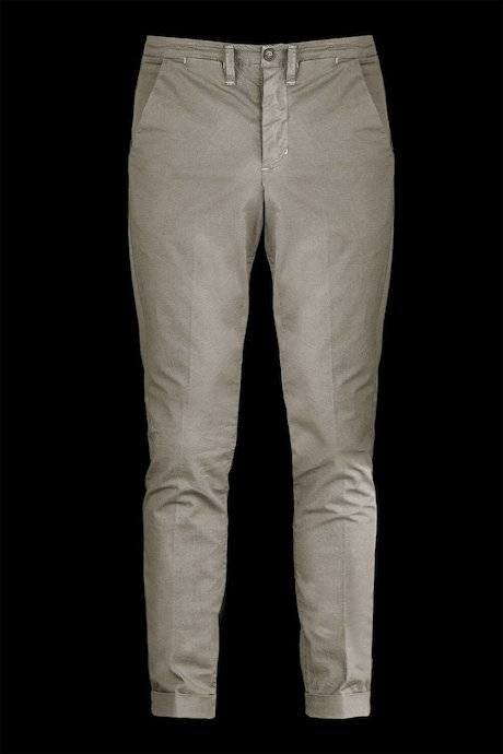 Cotton chino trousers with micro print